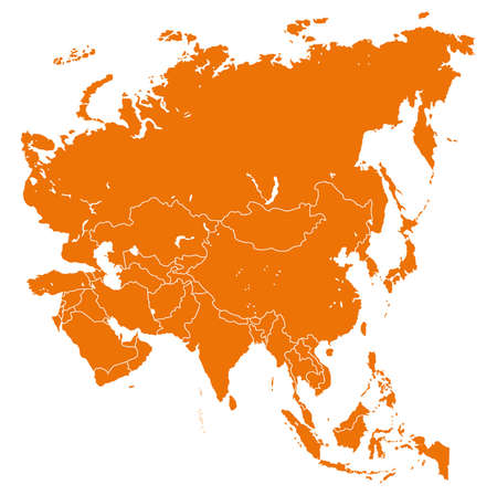 vector map of Asia