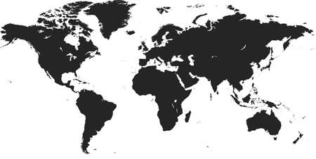 wereldkaart vector Stock Illustratie