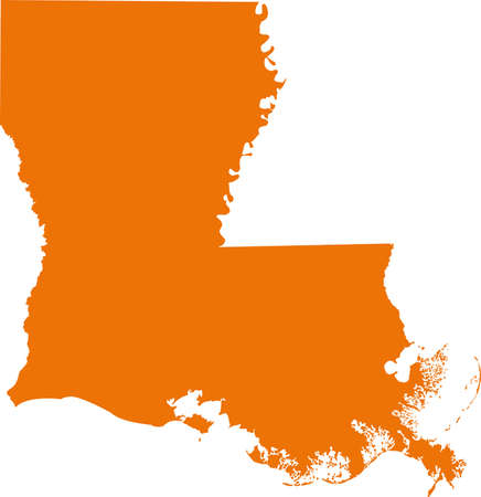 orange county: Louisiana Map