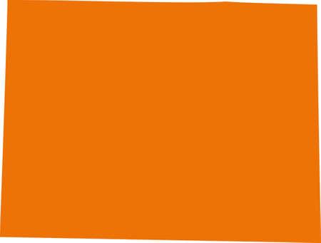 orange county: Colorado Map
