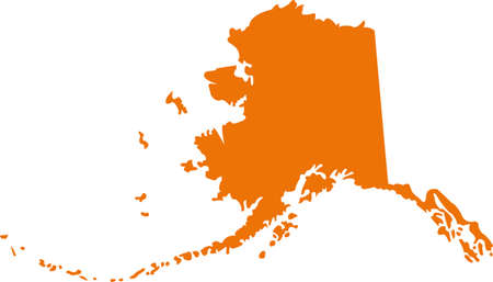 orange county: Alaska Map Illustration
