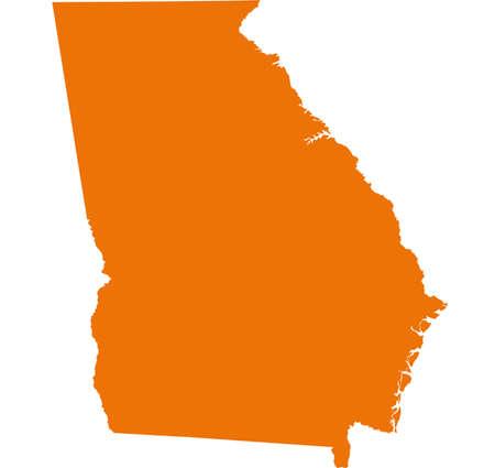 orange county: Georgia Map Illustration
