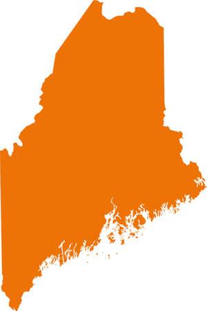 orange county: Maine Map