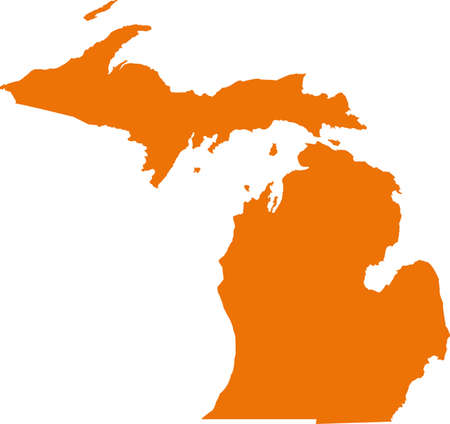 orange county: Michigan Map