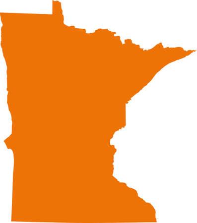 orange county: Minnesota Map