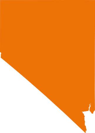 orange county: Nevada Map