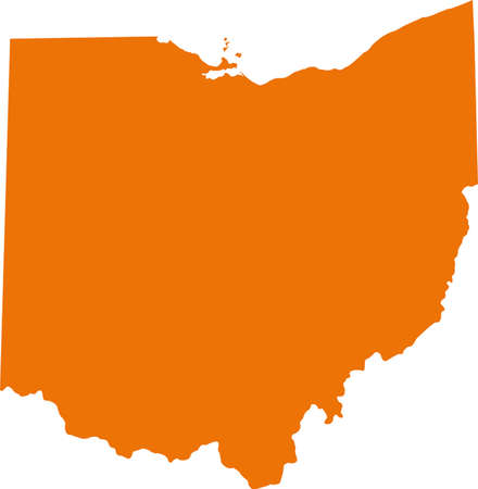 orange county: ohio map Illustration