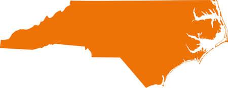 orange county: north carolina map