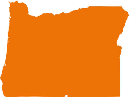 orange county: Oregon map Illustration