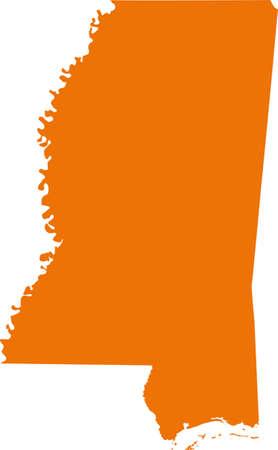 orange county: Mississippi Map