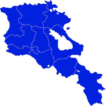 lake district: map of Armenia