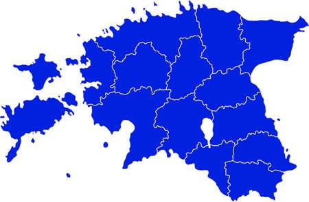 estonia: map of Estonia Illustration