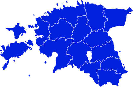 map of Estonia Illustration