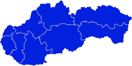 Map of Slovakia Фото со стока - 37698769