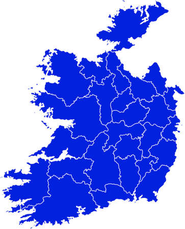 eire: vector map of Ireland