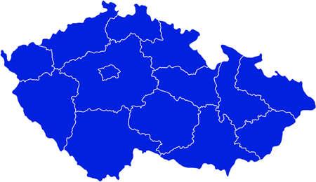 Map of Czech Republic Ilustração