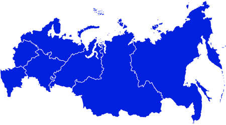 central european ethnicity: map of russia