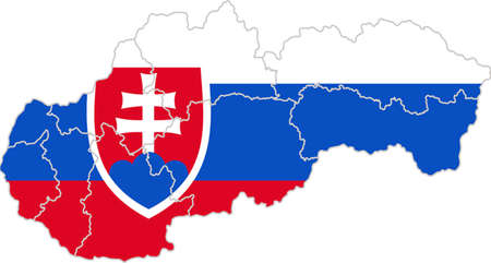 slovakian: Map and flag of Slovakia