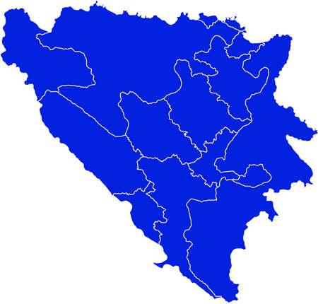 bosnia and  herzegovina: map of Bosnia and Herzegovina