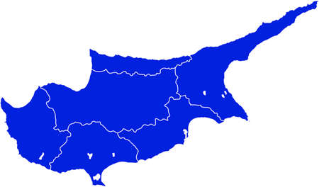 cyprus: vector map of cyprus