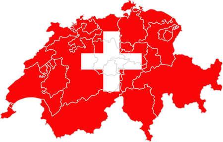 whitern: Map and flag of Switzerland