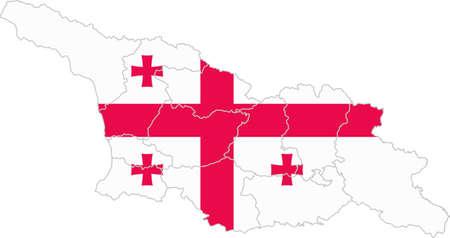 whitern: Map and flag of Georgia