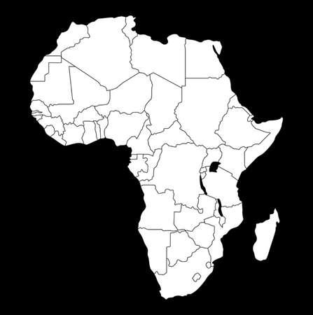 map of africa Фото со стока - 37697833