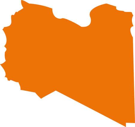 Vector Libya map on Africa