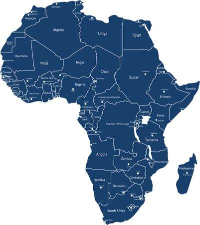 Carte d'afrique Banque d'images - 37697852