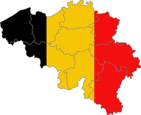 yellowrn: Map and flag of Belgium