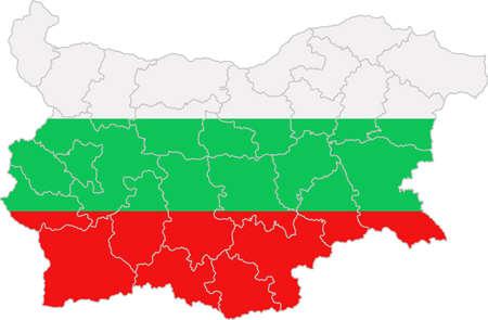 whitern: Map and flag of Bulgaria
