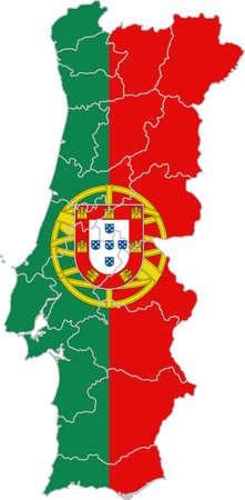 bandera de portugal: mapa y la bandera de Portugal