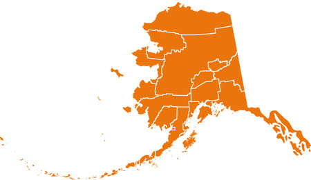 orange county: map of Alaska