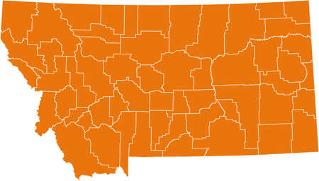 orange county: map of Montana