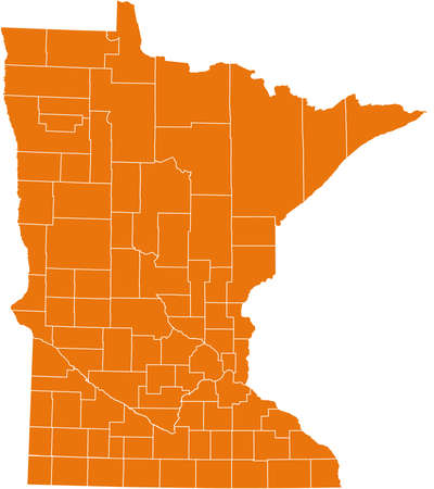 orange county: map of Minnesota Illustration