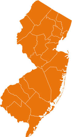 orange county: map of New Jersey