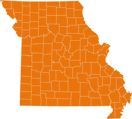orange county: map of Missouri