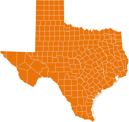 county: map of Texas
