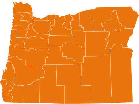 orange county: map of Oregon Illustration