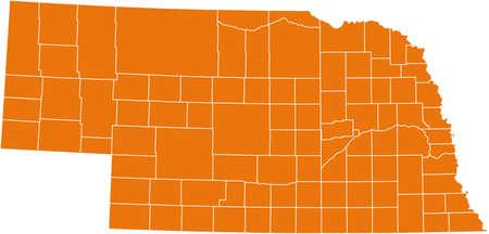 orange county: map of Nebraska