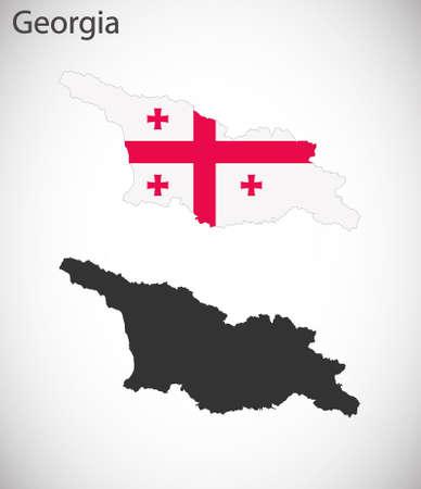 georgia: Map and flag of Georgia