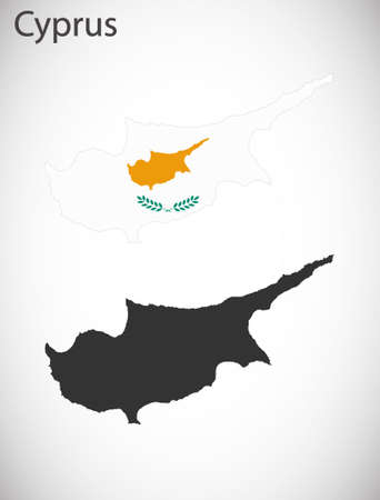 cyprus: Map and flag of Cyprus