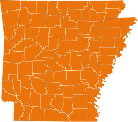 orange county: map of Arkansas
