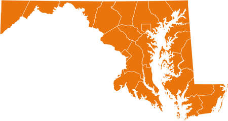 orange county: map of Maryland