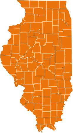 orange county: map of Illinois