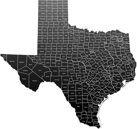 Kaart van Texas Stock Illustratie
