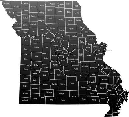 Missouri Map Фото со стока - 44953998