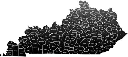 kentucky: Kentucky Map Illustration