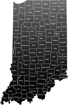 indiana: Indiana Map