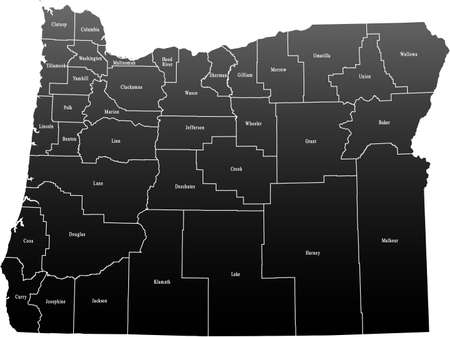 oregon: Oregon Map
